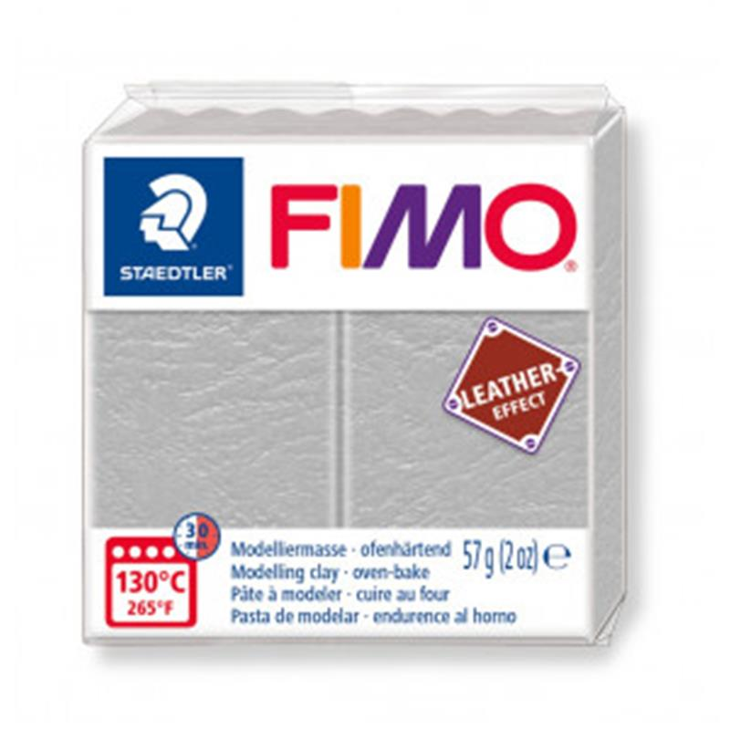 FIMO LEATHER GOLOBJE SIVA 809