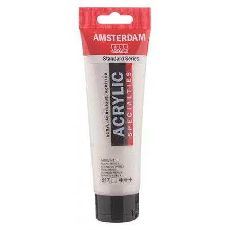 AMSTERDAM AKRIL 120ML PERLA BELA 817