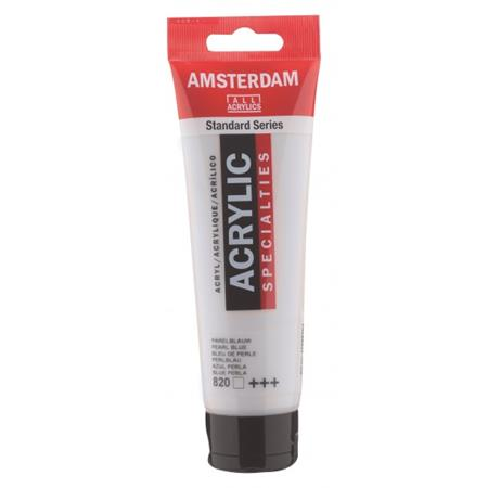 AMSTERDAM AKRIL 120ML PERLA MODRA 820