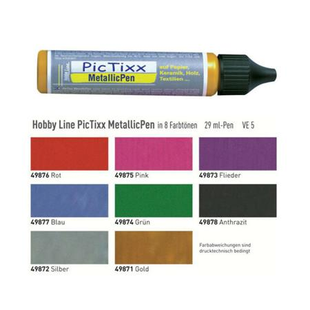 PIC TIXX METALLIC PEN 29ML 49877